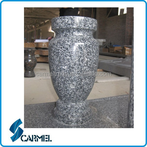 Hot sale granite headstone decorations headstone flower pot