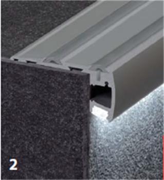 Geanodiseerd Aluminium Profiel Led Strip Voor Led Trap Verlichting ...