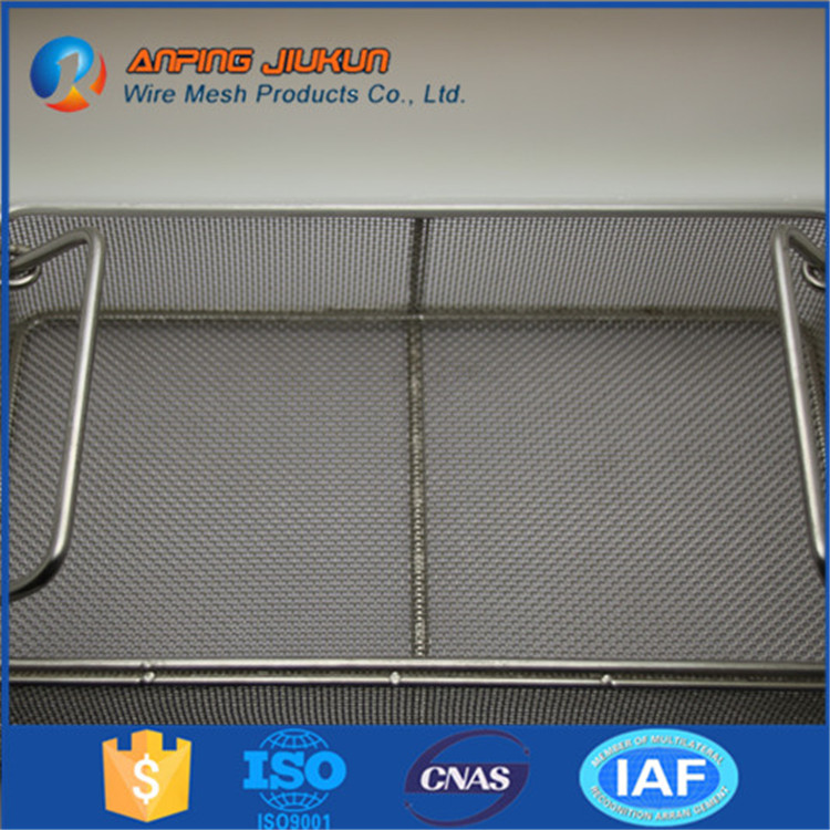 Brand new perforated metal basket sterilizing trays