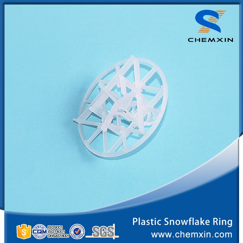 Plastic snow flake ring for water cooler