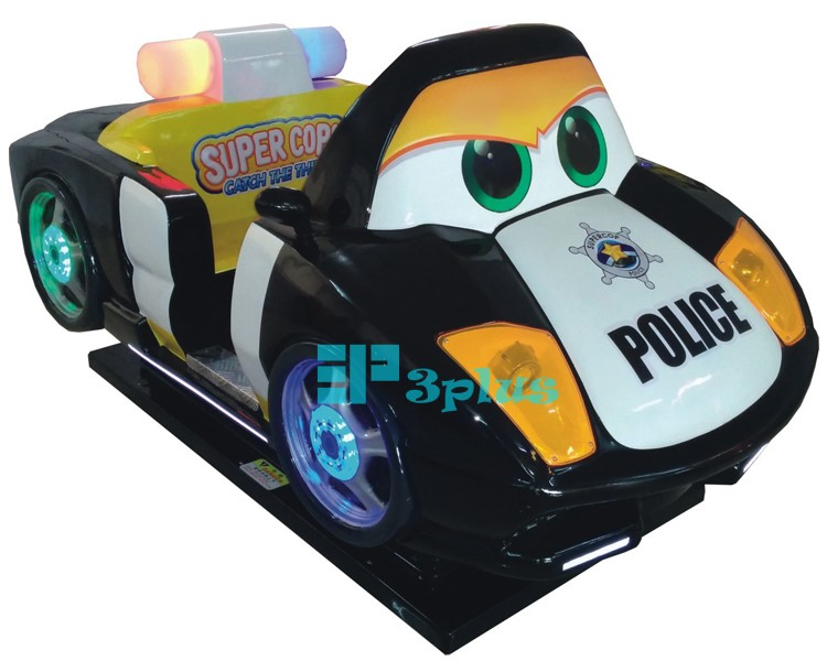 police car blue kids rides coin operated 3d interactive game machine arcade video electric car games