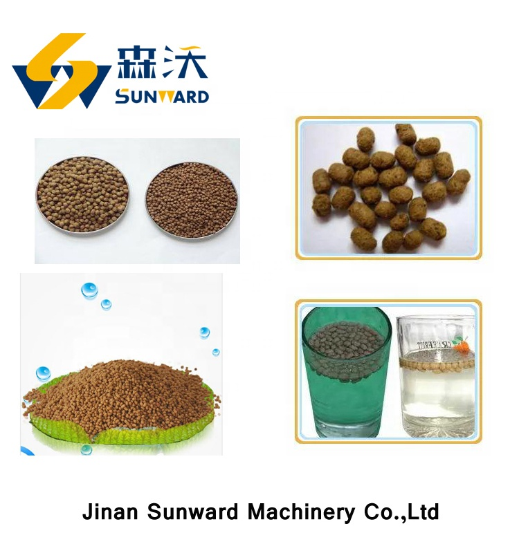 2019 Popular and best quality fish feed pellet machine floating fish food production line
