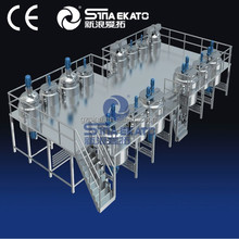 Sina-Ekato machine: No bubble liquid and cream cosmetic products, TVF 100 Two Heads Pneumatic Vertical Filling Machine