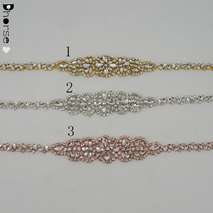 Wedding Accessories Embellishment Rhinestone Bridal Sash Belt Applique