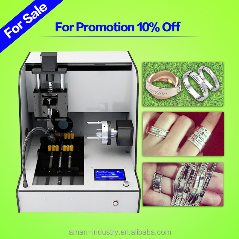 mini portable jewelry stamping machinery cnc ring and necklace routers