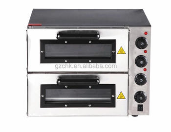Stainless Steel Commercial Electric Pizza Oven For Sale/easy To Operate  Double Deck Pizza Oven
