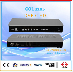 HD dvb c cable receiver annex a/b/c with CAS card COL2193C