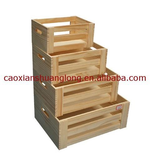 pas cher en bois fruits caisses vendre unfinished bois. Black Bedroom Furniture Sets. Home Design Ideas