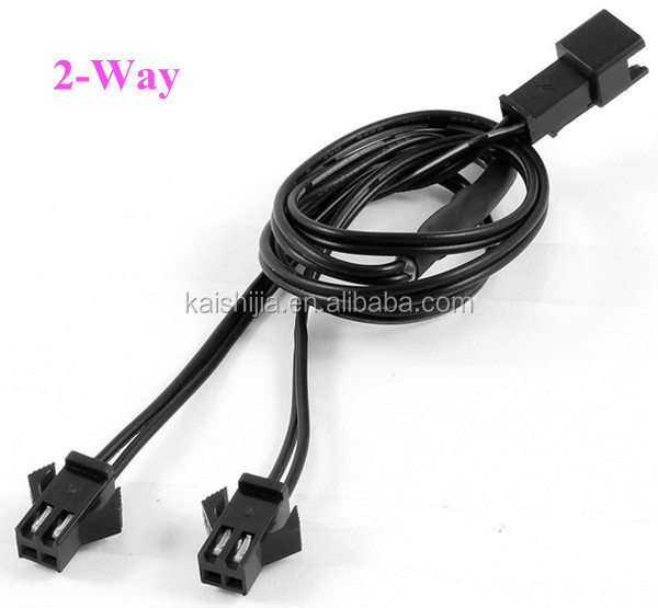 3 Way Female To Male 2 Pin Connector El Wire Splitter Cable For El ...