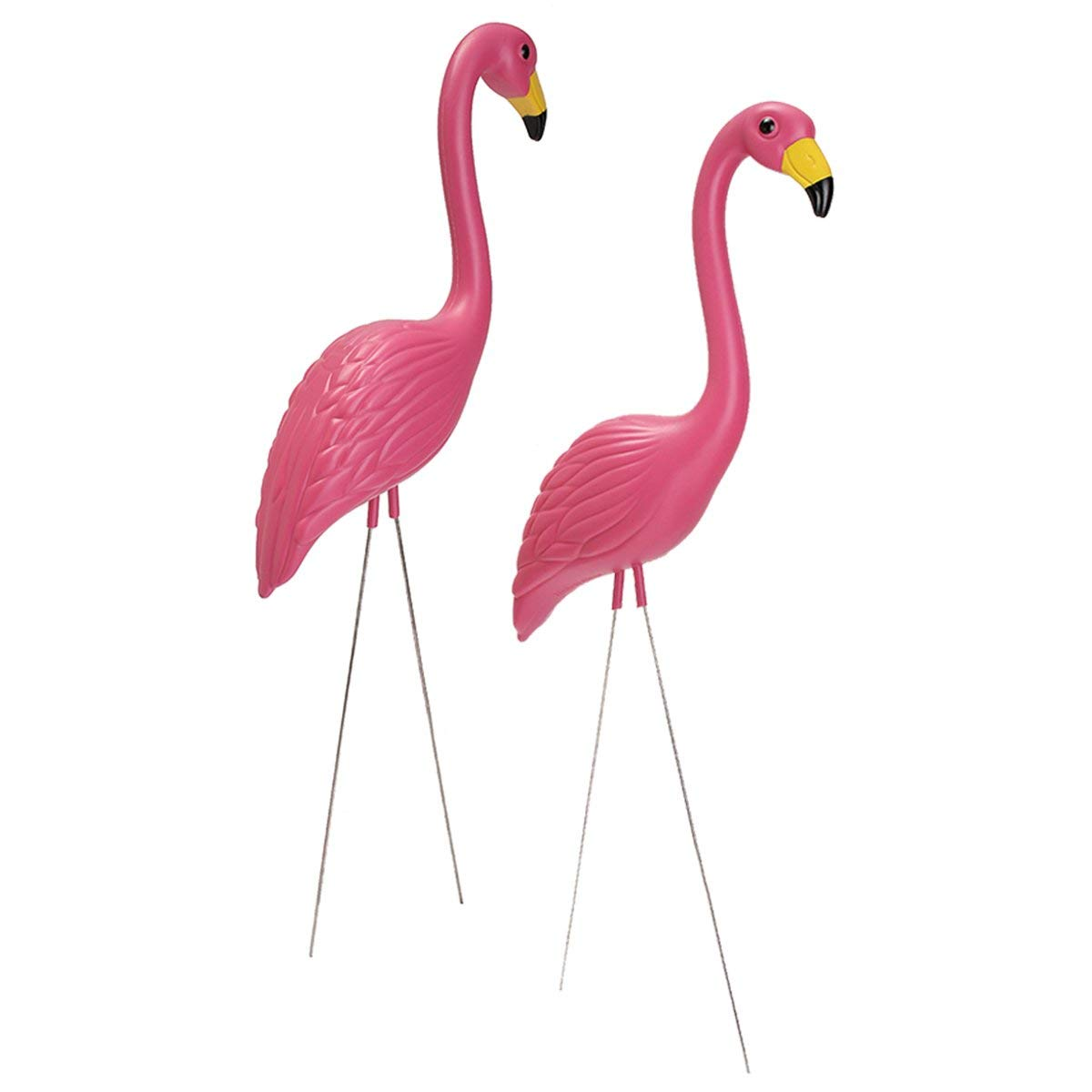Get Quotations Aissimio Pack Of 2 Plastic Pink Flamingo Yard Ornament Garden Lawn Art Ornaments