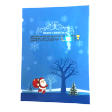 2018 trending products led light handmade paper blue musical christmas greeting cards with sound model