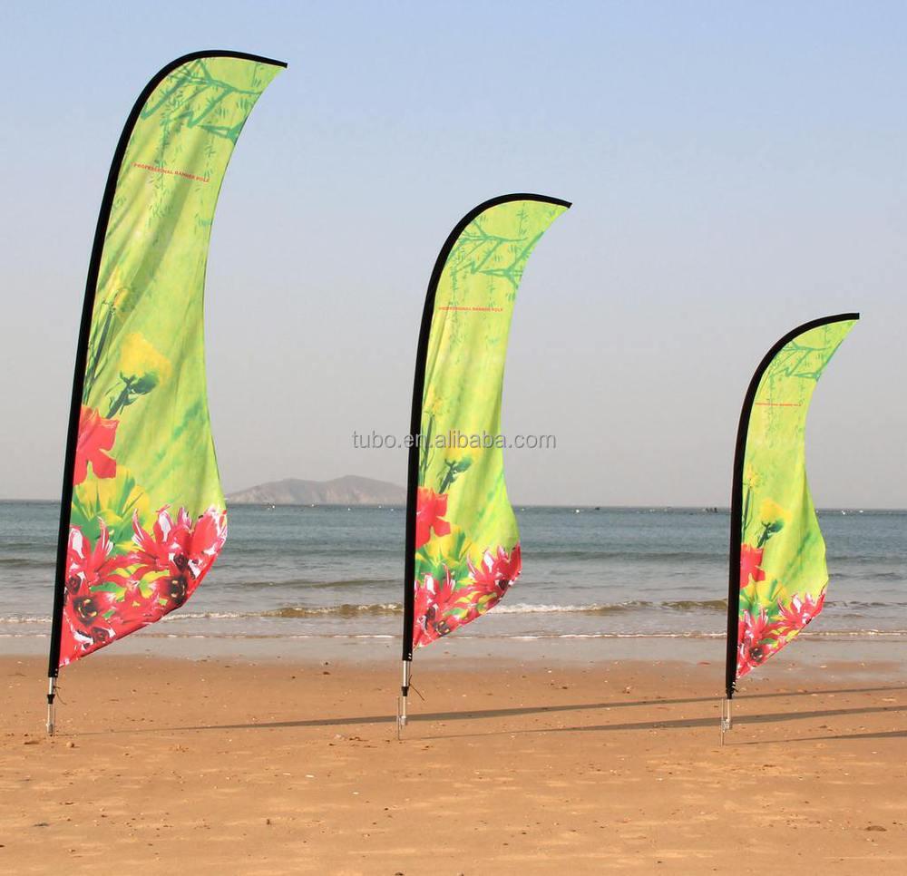 Hot Sale Custom Advertising Beach Flag Banner With Printing ...
