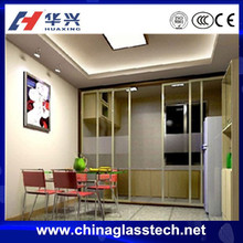 CCC certificate Space Saving pattern glass aluminium alloy kitchen entrance door
