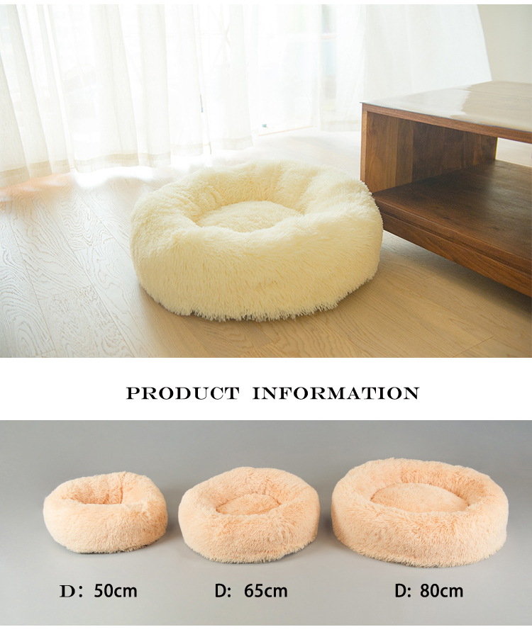 Wholesale Round Pet Dog Supplies Bed with Self-Warming ,Machine Washable,