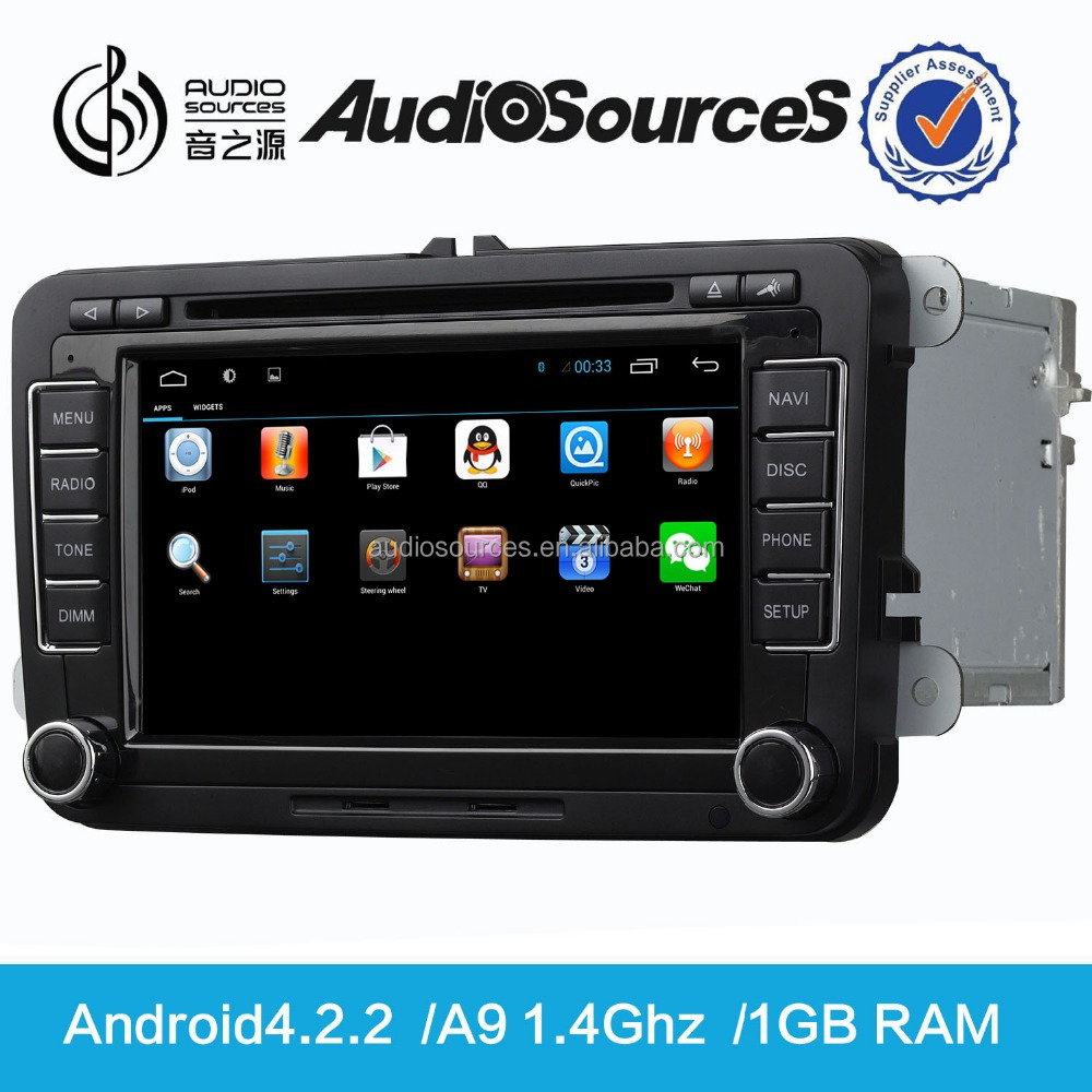 AudioSources HD 7inch capacitive touch screen android 2 din car stereo wifi for vw&skoda