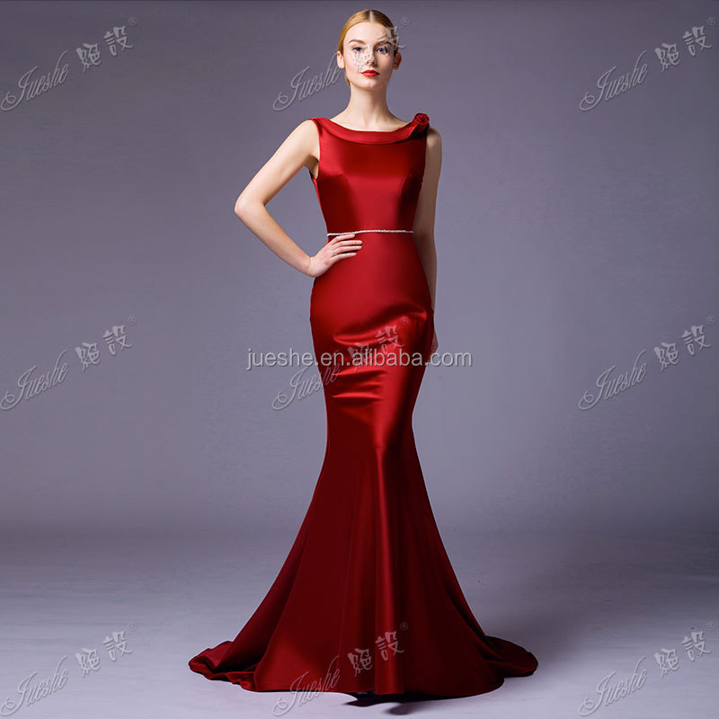 Elegant Low Back Special Occasion Wedding Guest Dress Satin ...