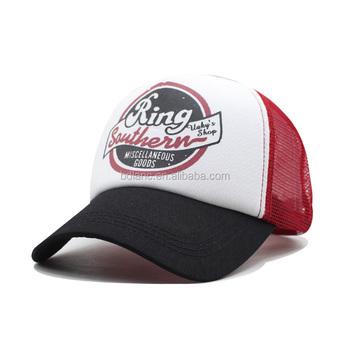 Hot selling Manufacture Custom cheap baseball cap printing mesh trucker hat f33166d7a68