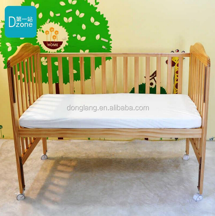 White Anti-Bed Bug Bamboo Terry Waterproof Baby Crib Mattress Protector