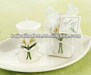 'Calla Lily Elegance' Vase design Candle for wedding favors
