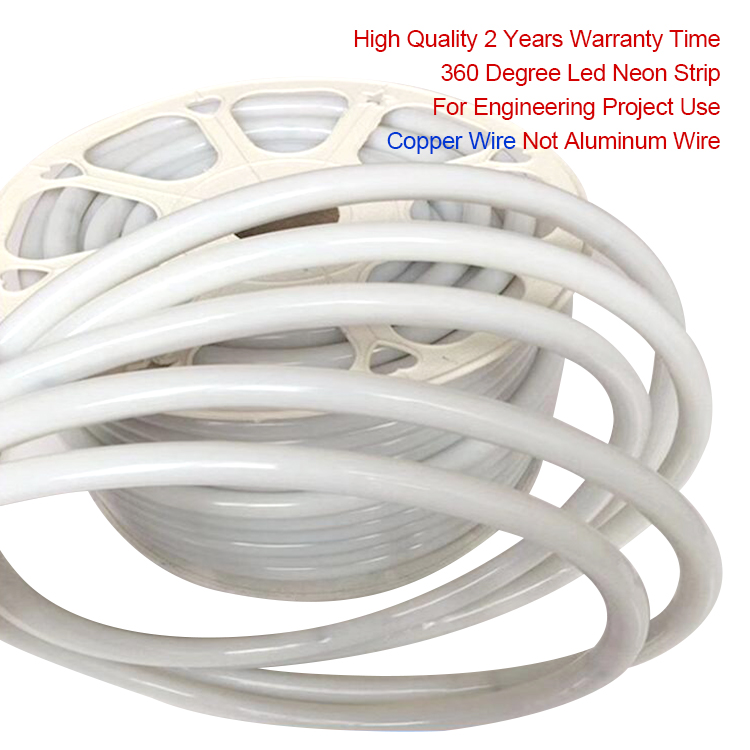 2 years warranty time high quality rgb flexible led neon tube 12v for engineering project application