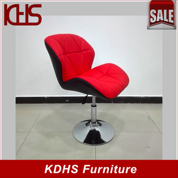 Simple Modern Design One Leg Swivel Chairs Without Wheels - Buy ...