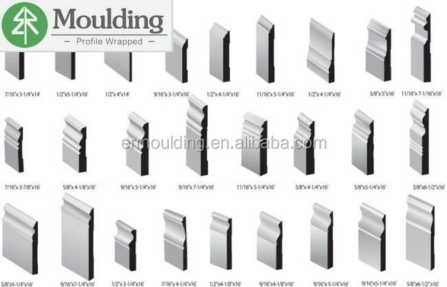 different baseboard molding styles for different market