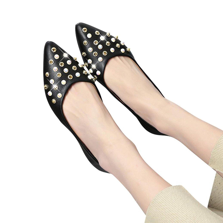Get Quotations · Amiley Low Heel Flat Shoes 3976155fbeea