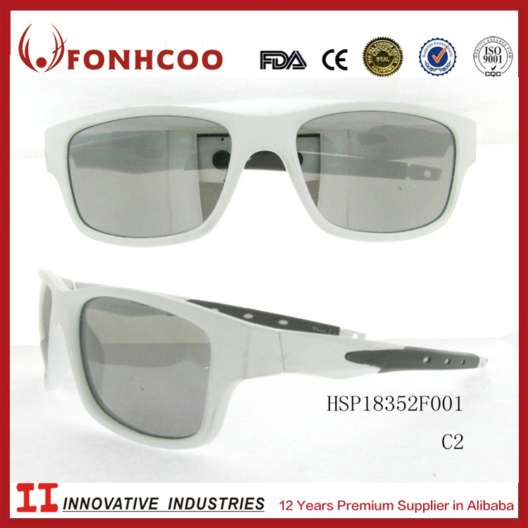 FONHCOO Super Quality Hot Sell Silver Transparent Lenses Cheap Classical Plastic Sunglasses