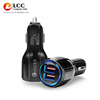 for iphone charging car charger with LCD indicator
