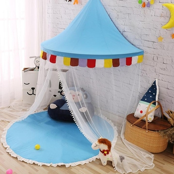 Half Moon Bed Canopy for Baby Kids Reading Play Tents Cotton Canvas & Half Moon Bed Canopy For Baby Kids Reading Play Tents Cotton ...