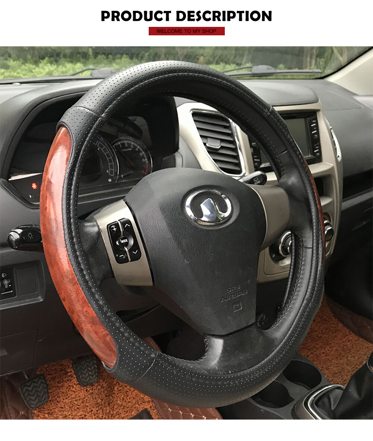Modern Design 40cm Universal Car Steering Wheel Cover