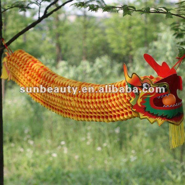 Seidenpapier H Ngen Chinesische Drachen Deko Festival