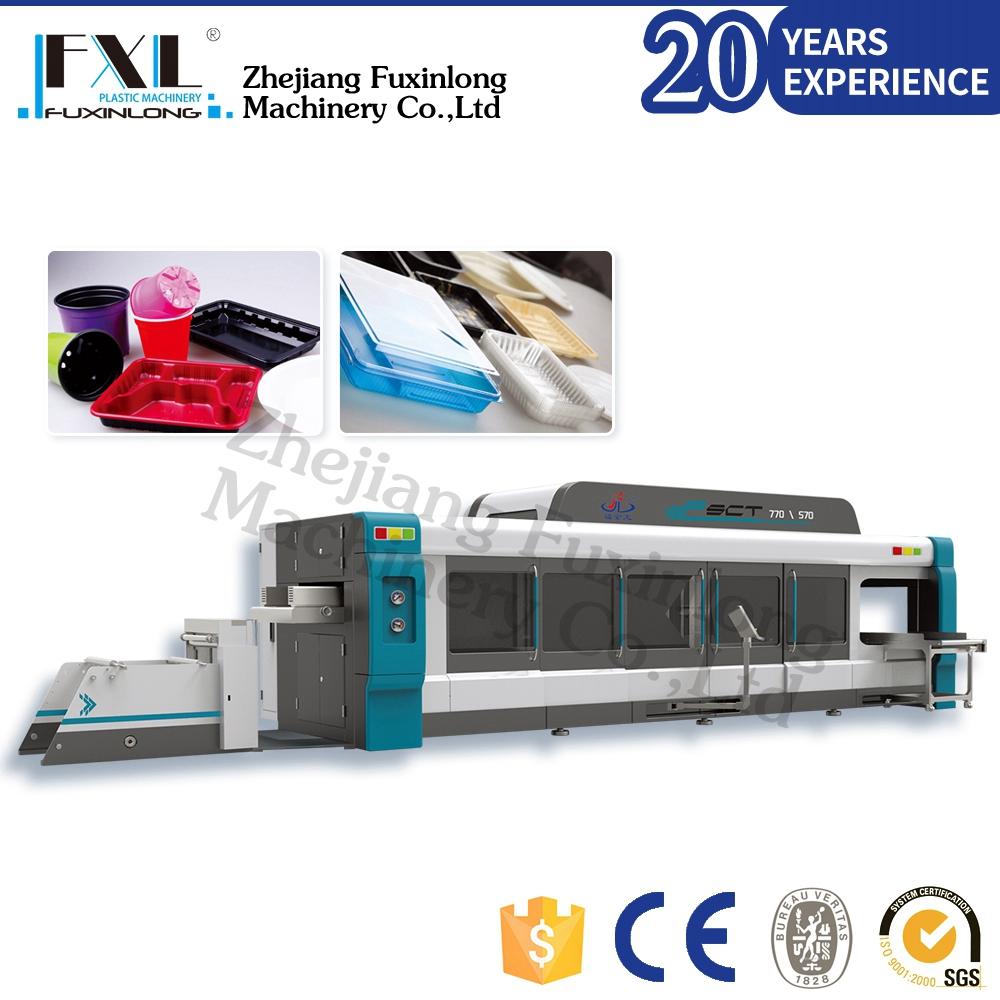 Máquina automática de bandeja de termoformagem, máquina de vacuum forming