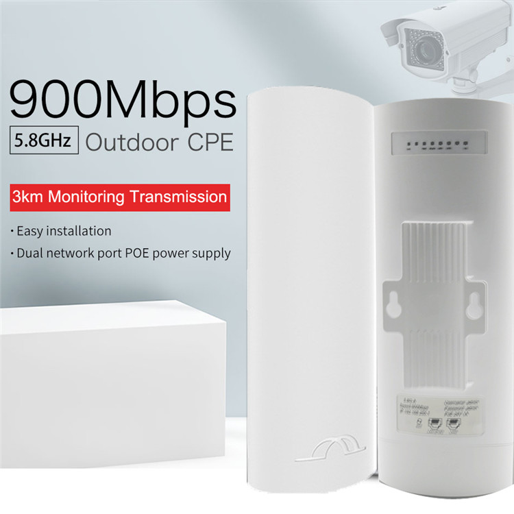 900 Mbps 5.8 Ghz Outdoor Wifi Cpe 5 km lange transmissie afstand Hoge Kwaliteit Outdoor Ap/Outdoor Cpe Draadloze brug