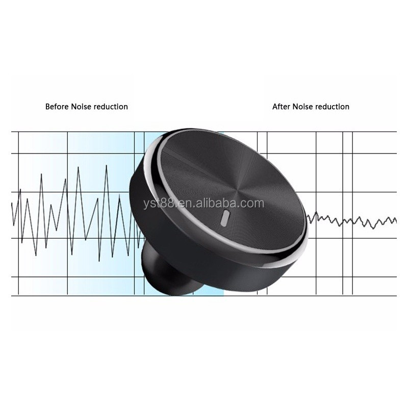 Bluetooth earphone smart Car Charger with Hands-free Stereo Headphone with Mic