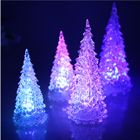 Indoor Decoration Acrylic Led Lighted Crystal Christmas Tree