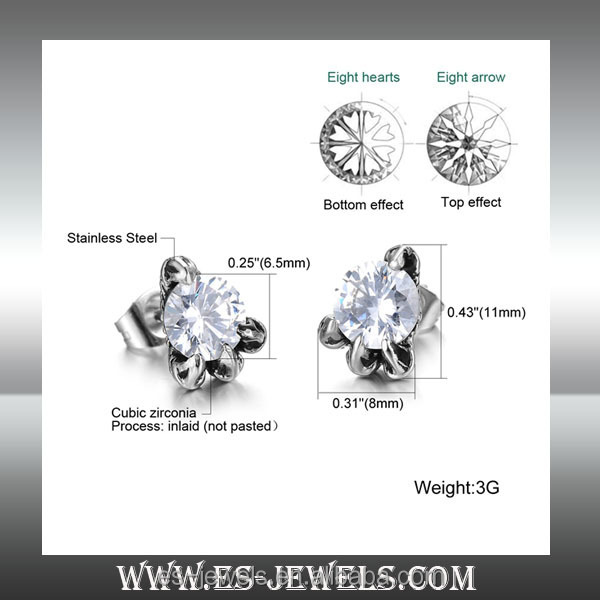 China company offer Geometry style fashion stainless steel ear rings