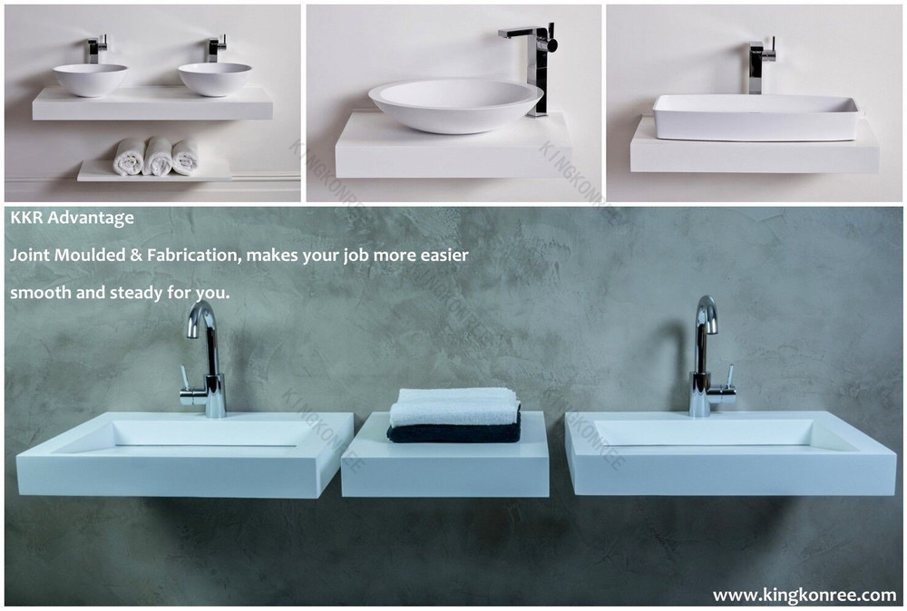 Acrylic Solid Surface Wall Hang Basin / Acrylic Stone Wash Basin ...