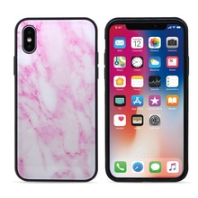 Newest hard marble rock back cover ugged tempered glass armor phone case