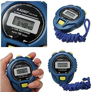 Sports Odometer Electronic Digital Chronograph Time Stopwatch / . Specification: Size: approx. 7.6cm * 6.2cm * 1.8cm / 3'' * 2.4'' x 0.7'' . Length of the rope: approx. 54.5cm / 21.4''