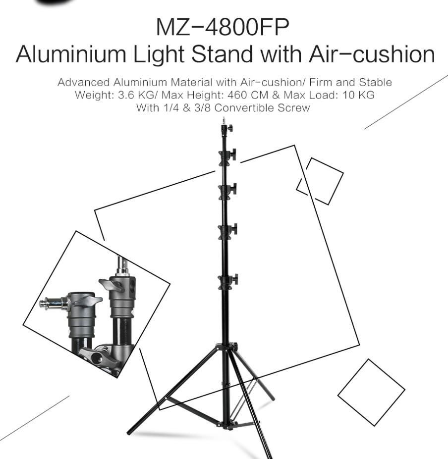 MZ-4800FP Aluminium Light Stand with Air-cushion