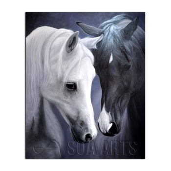 Hand Painted Horse Canvas Oil Painting For Home Decor