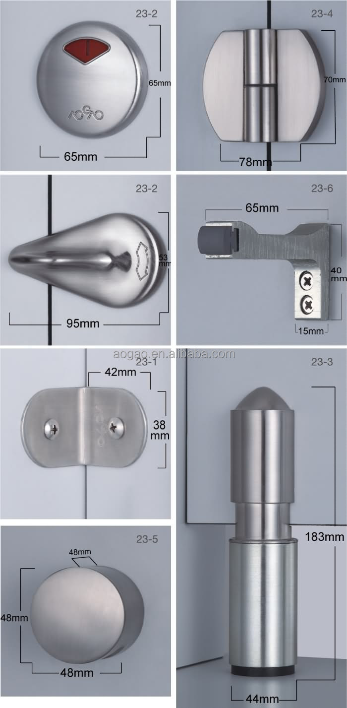 Bathroom Partition Accessories toilet cubicle door knob,hardware,handle,toilet partition