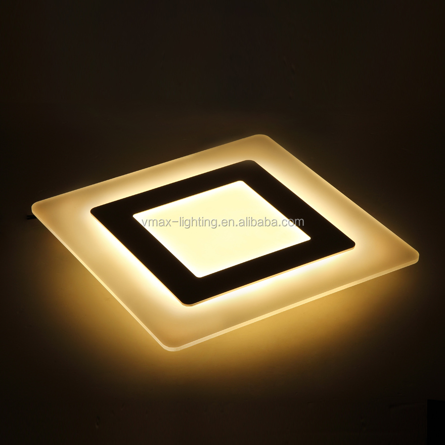 <strong>Modern</strong> led suspended ceiling light square 30w interior fancy suspended pendent lighting