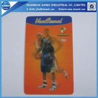 plastic 3d lenticular printing business card