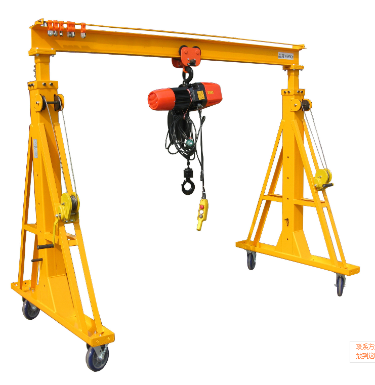 Ergonomic Portable Lifts : Portable adjustable steel gantry cranes buy crane
