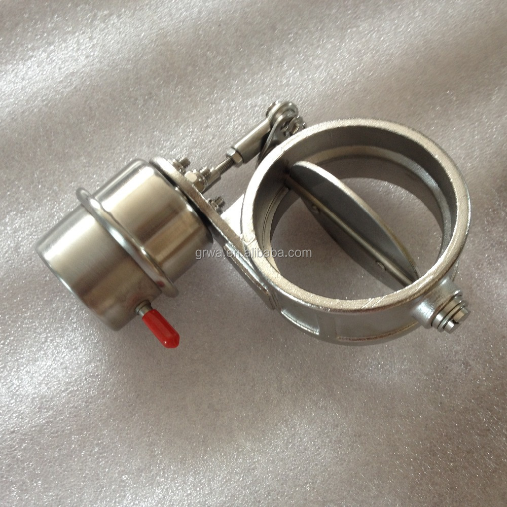 "Stainless Steel Exhaust Control Valve Set Vacuum Actuator 2""/2.25'/2.5'/2.75'/3' Pipe Open / Closed Condition"