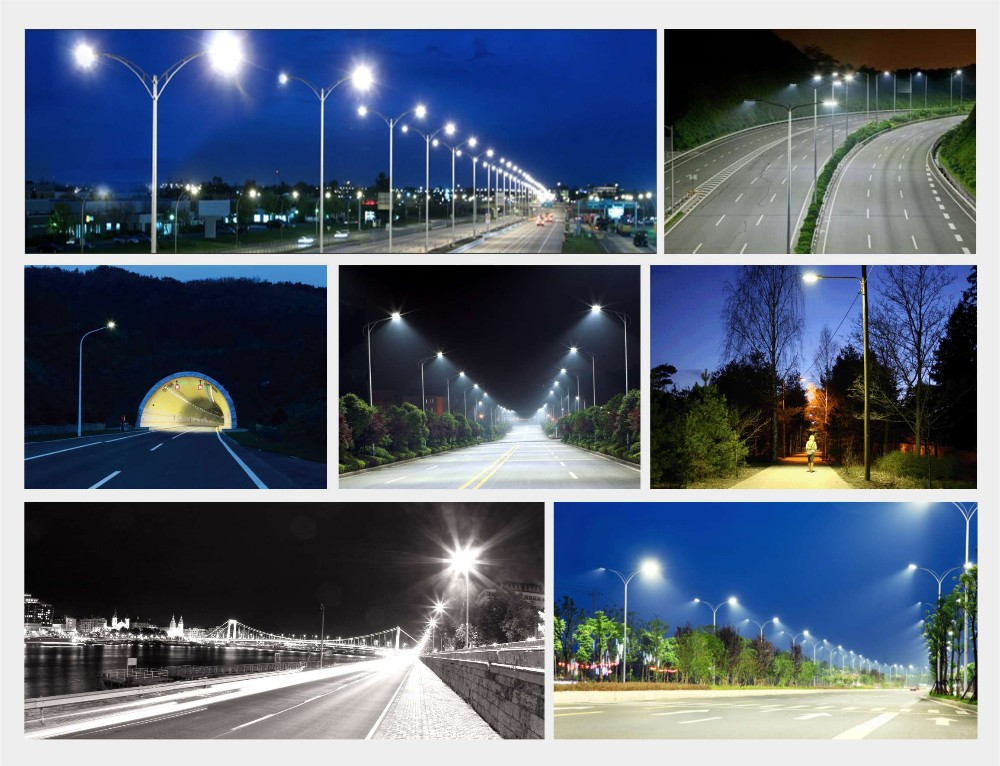 IP66 led street led light with CE RoHS TUV durable 80000 hours 2700-7000K solar led street light price list