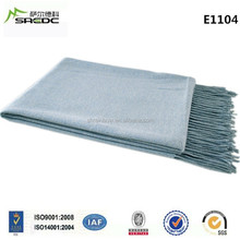 Cashmere 50 Wool 50 Melange Blue Adults Tv Blanket