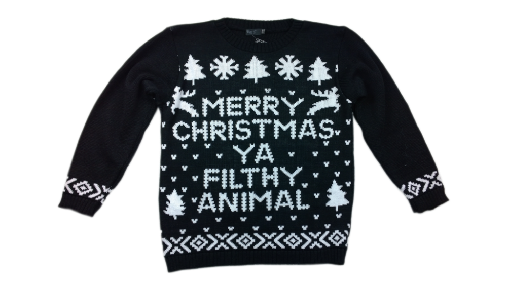 merry christmas ya filthy animal text motif knitted christmas jumper top sweater buy unisex christmas jumpers christmas sweaters product on alibabacom